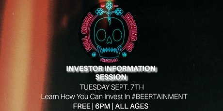 Investor Info Session tickets