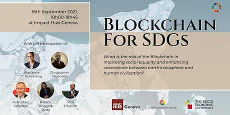 Blockchain for SDGs billets