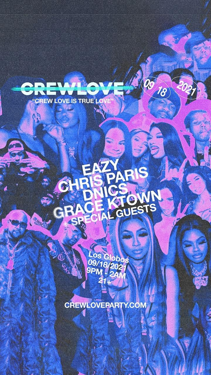 Crew Love Party: September 18, 2021 image