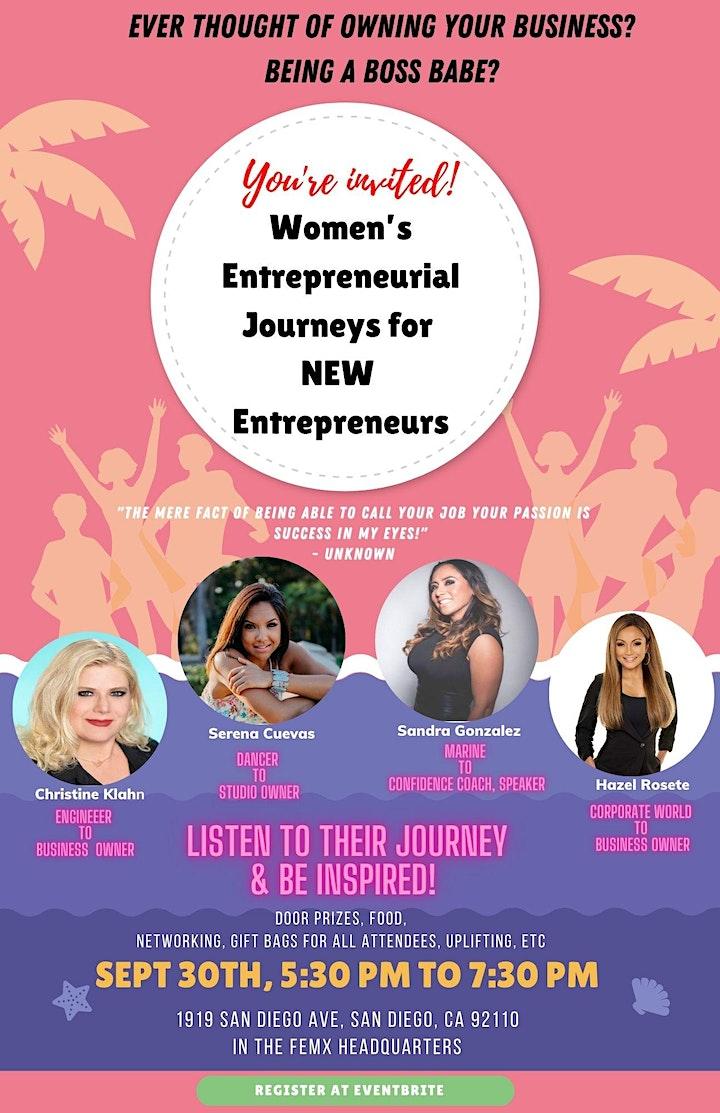 """Womenprenuers """"Women's Entrepreneurial Journeys for new Entrepreneurs"""" image"""