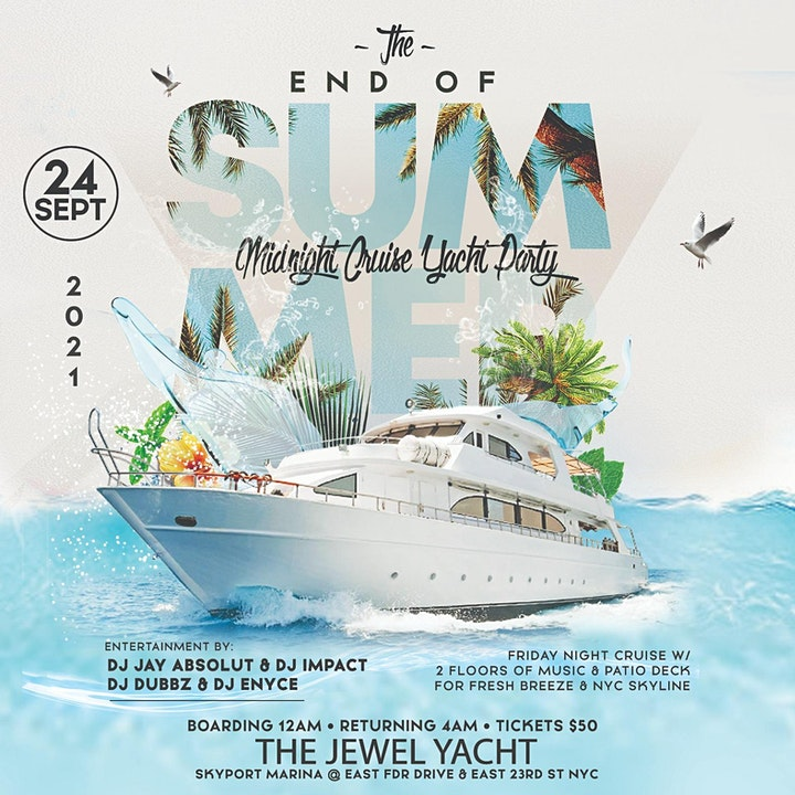 THE END OF SUMMER MIDNIGHT CRUISE YACHT PARTY : JEWEL YACHT : JOHN5CASH image