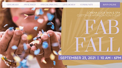 Lorena Luca Skin and Spa   FAB FALL event tickets
