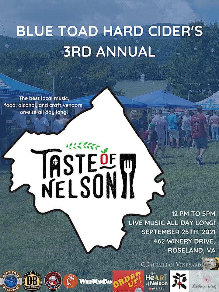 Annual Taste of Nelson - Food, Craft Beverage, Art & More Festival! image