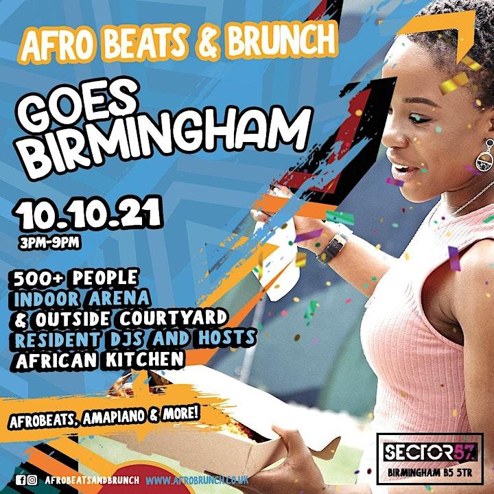 Afrobeats n Brunch - Sun 10th Oct BIRMINGHAM UK TOUR image