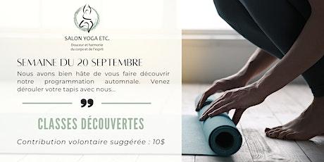 YOGA DÉTENTE - CLASSE DÉCOUVERTE avec Chantal Beaupré billets