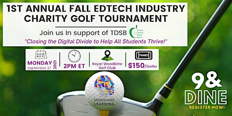1st Annual Fall EdTech  Industry Charity  Golf Tournament tickets