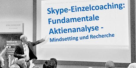 Skype-Einzelcoaching: Fundamentale Aktienanalyse  Mindsetting und Recherche entradas