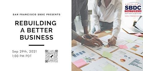 Rebuilding a Better Business tickets