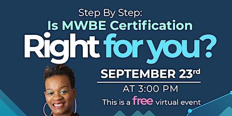 MWBE Certification Workshop tickets