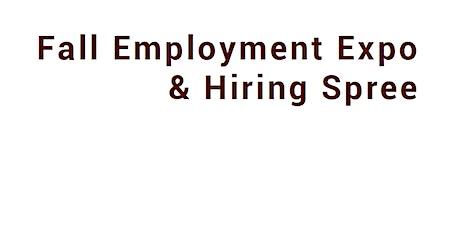 Fall Employment Expo & Hiring Spree Virtual Job Fair -Employer Registration tickets