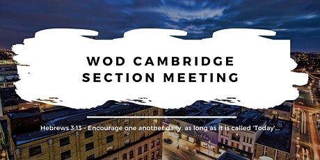 Cambridge Section Meeting - September 28 tickets