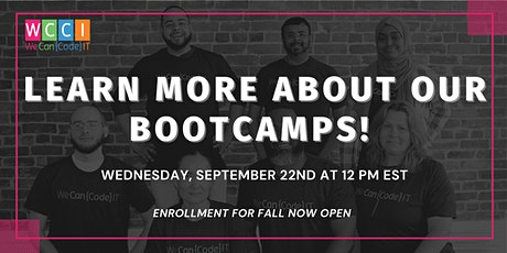 Learn More About Full-Time and Part-Time Coding Bootcamps - Info Session tickets