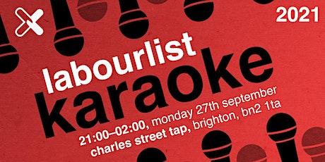 LabourList Karaoke 2021 tickets