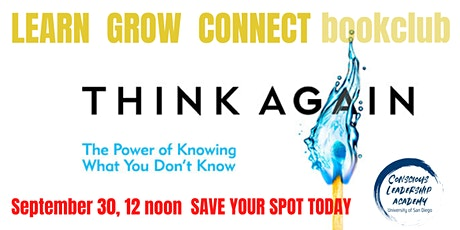 September Learn, Grow, Connect Book Club - Think Again by Adam Grant tickets
