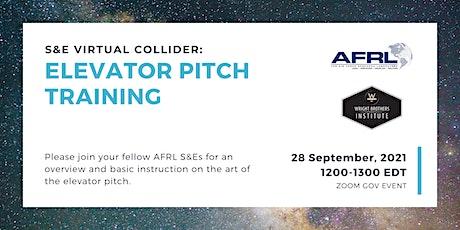 S&E Virtual Collider: Elevator Pitch Training tickets