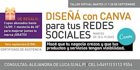 Taller de diseño de flyers para redes sociales tickets