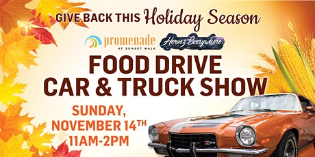 Promenade at Sunset Walk Second Sunday Car & Truck Show and Food Drive tickets