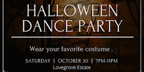 Halloween costume dance party tickets