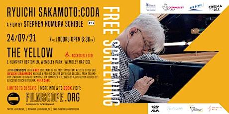 Ryuichi Sakamoto: Coda - FREE Screening! tickets