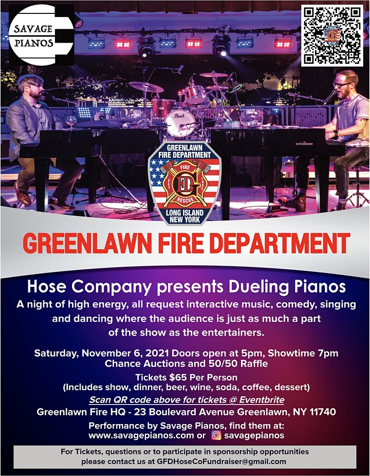 Greenlawn Fire Department Hose Company presents Dueling Pianos image