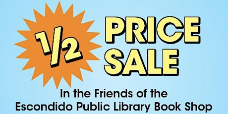 1/2 Price Sale: Friends of the Library Book Shop tickets