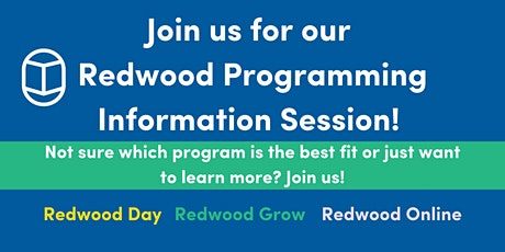 Redwood Programming Information Session! (afternoon) tickets