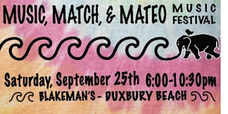 Music, Match & Mateo tickets