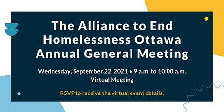 Annual General Meeting - Alliance to End Homelessness  Ottawa tickets