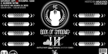 FULTON COUNTY CHAMPIONS PRESENTS - BOOK OF SHADOWS tickets
