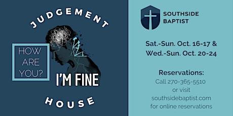 Judgement House 2021- Saturday, Oct. 23rd tickets
