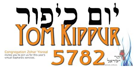 Zohar Yisrael Sephardic Yom Kippur 5782 virtual event tickets