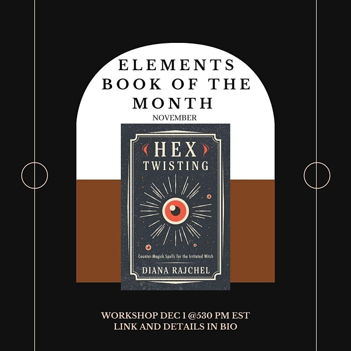 Elements November Book of the Month (on Dec 1) Hex Twisting image
