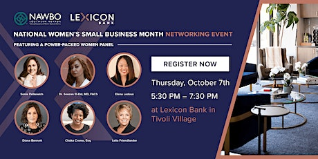 National Women's Small Business Month - Lexicon Bank & NAWBO SNV tickets