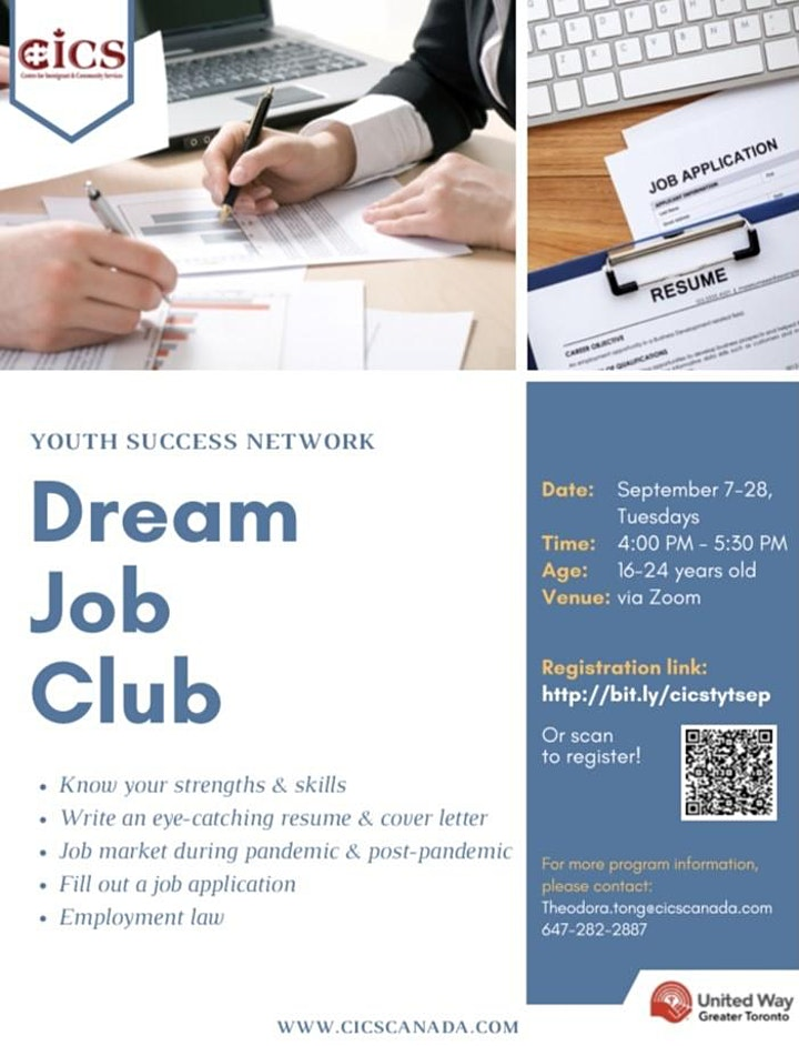 "Dream Job Club ""Landing Your First Dream Job"" image"