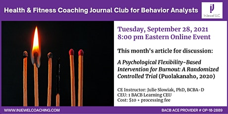 Health & Fitness Coaching Journal Club for Behavior Analysts (Sept 2021) tickets