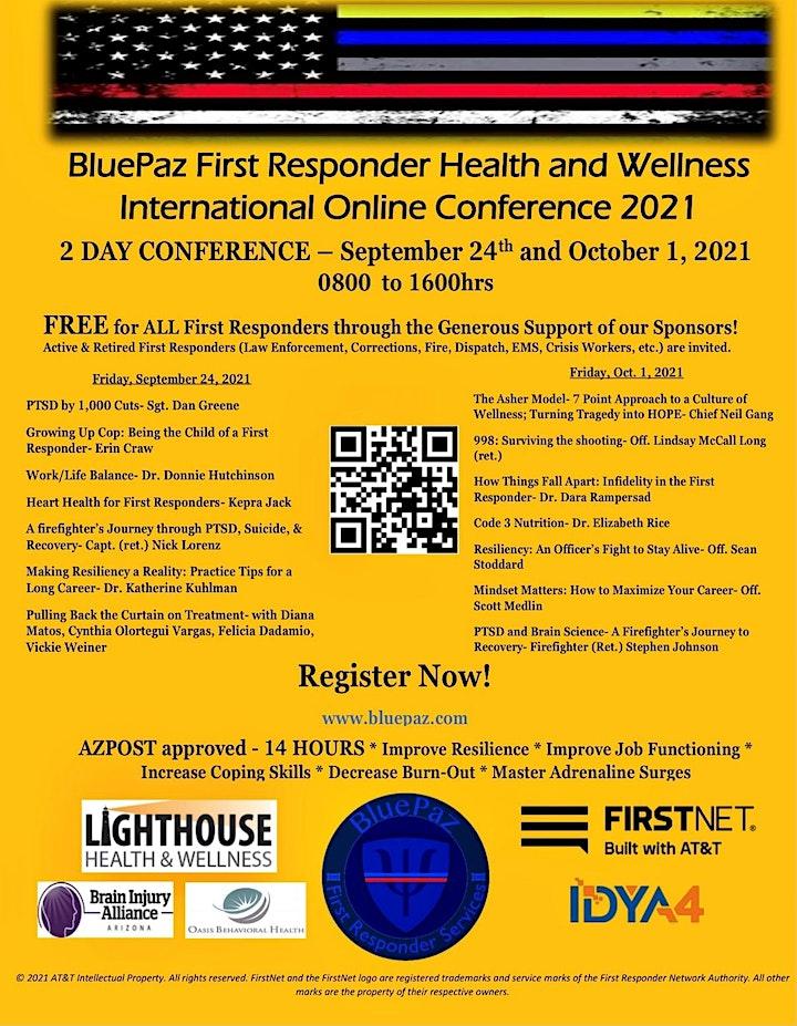 2021 BluePaz First Responder Health & Wellness Conference- 9/24/2 1&10/1/21 image