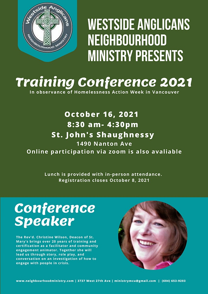 Westside Anglicans Neighbourhood Ministry: Training Conference image