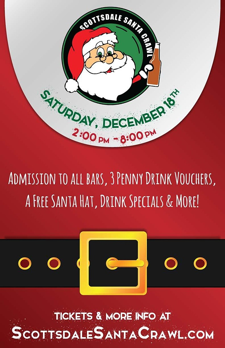 Scottsdale Santa Crawl in Old Town! - A Holiday Themed Bar Crawl! image