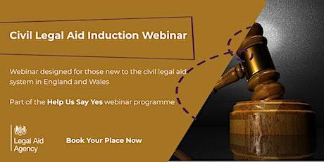 Civil Legal Aid Induction Webinar tickets
