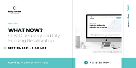 Webinar: What now? COVID recovery and city funding recalibration tickets