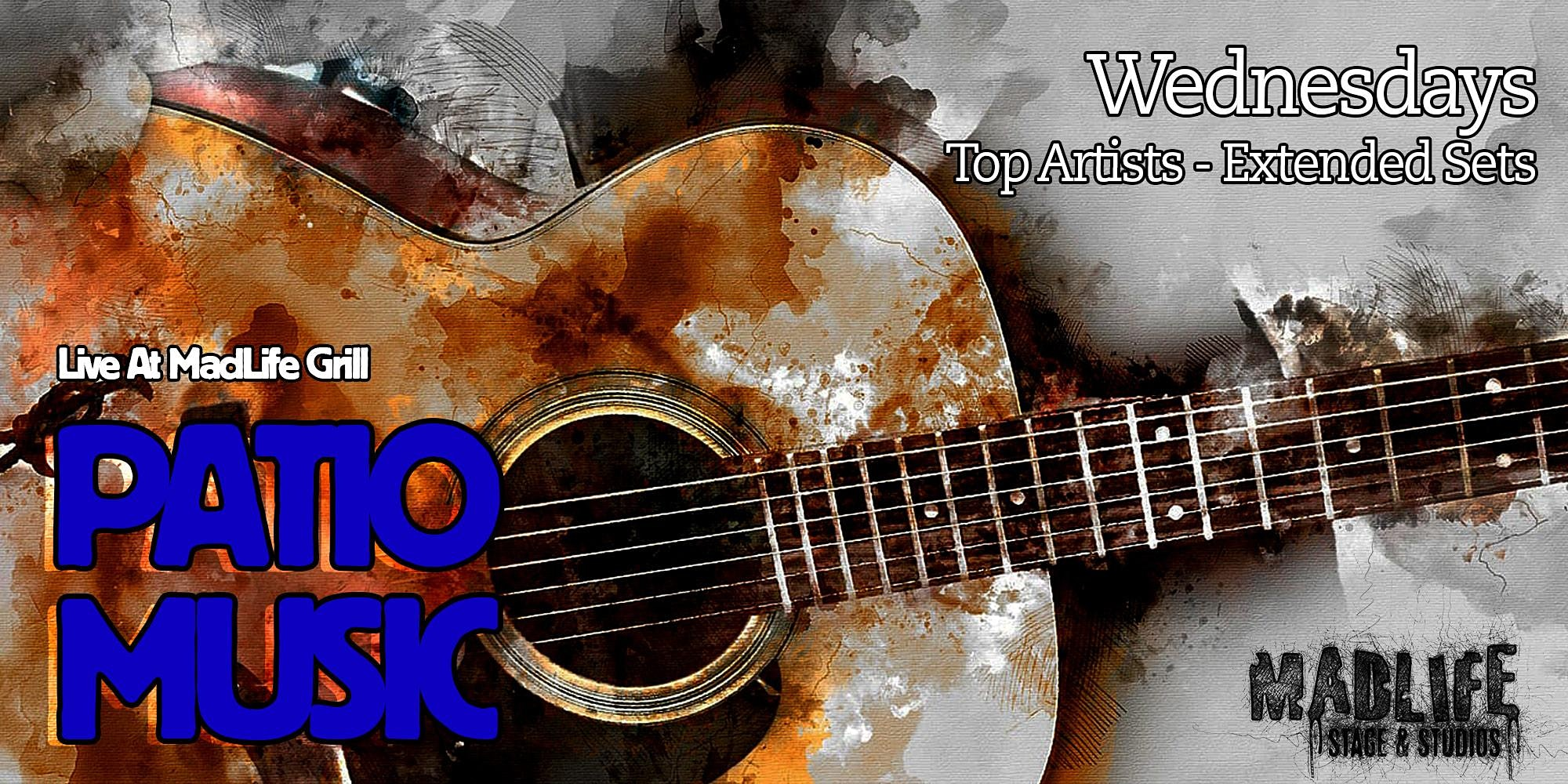 WED Patio Music Top Artists — Extended Sets Hosted by Greg Shaddix