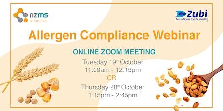 Allergen Compliance Webinar tickets