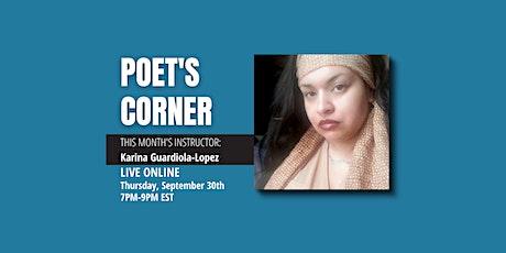September Poet's Corner tickets