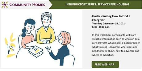 Understanding How to Find a Caregiver 12/14/21 tickets