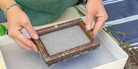 Recycled Paper Making with seeds tickets