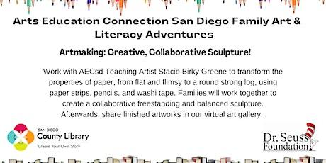 AECsd  Family Art & Literacy Adventures Artmaking Encinitas Library tickets