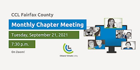 Citizens' Climate Lobby Fairfax County Chapter September Meeting tickets