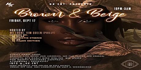 Brown & Beige tickets