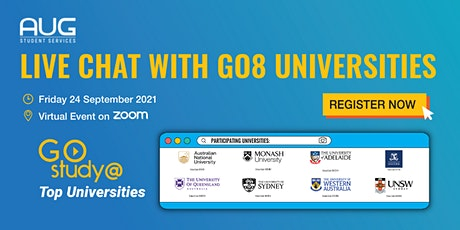 [AUG Adelaide] Live Chat with Go8 Universities tickets