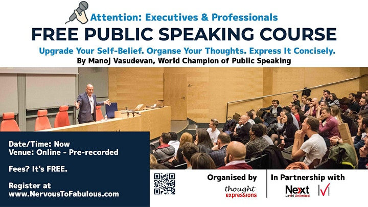 World Champion's Public Speaking Master Class for Executives & Managers image